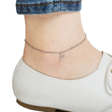 Your Initial Y Anklet-Blinglane