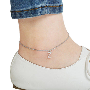 Your Initial Z Anklet-Blinglane