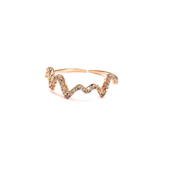Zig Zag Toe Ring-Blinglane