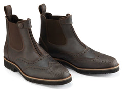 Caldene Bridestone Oxford Styled Waxed Leather Paddock Boot