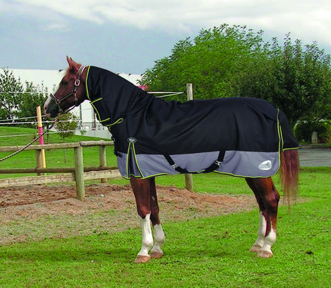 Masta Climatemasta 100g Fixed Neck Turnout Rug navy