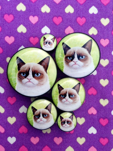 Grumpy Cat Plugs- 6mm-25mm (SOLD INDIVIDUALLY, NOT AS PAIR)