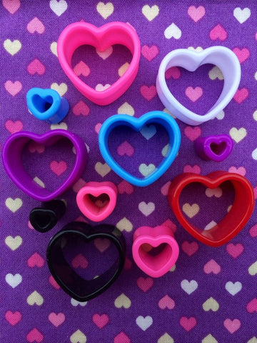 Love Heart Acrylic Tunnels