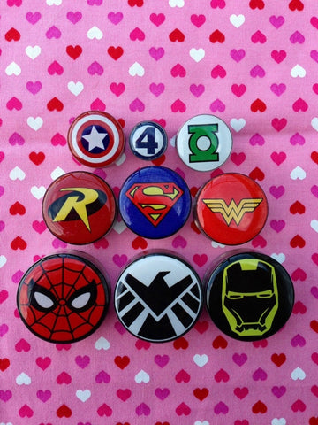 Superhero Symbol Plugs