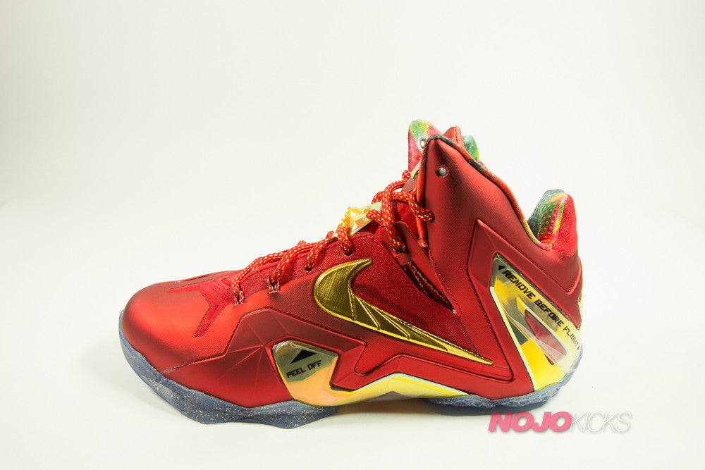 official photos 82ee6 be3df Nike Lebron 11 Red. Loading zoom