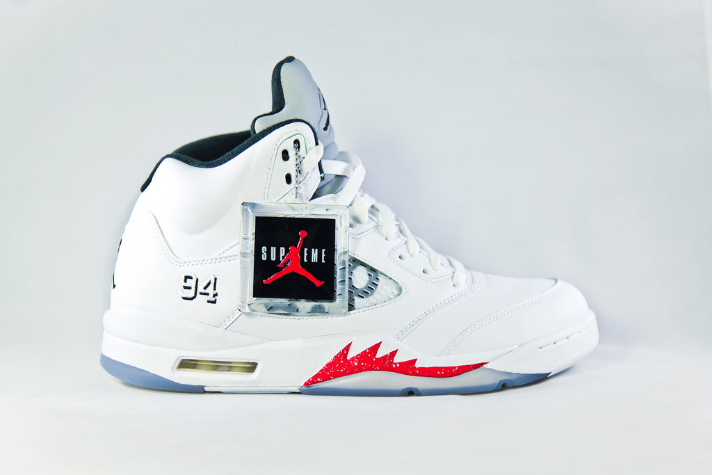 online store 864a7 98a93 Air Jordan Retro 5 Supreme (White) – NOJO Kicks Detroit