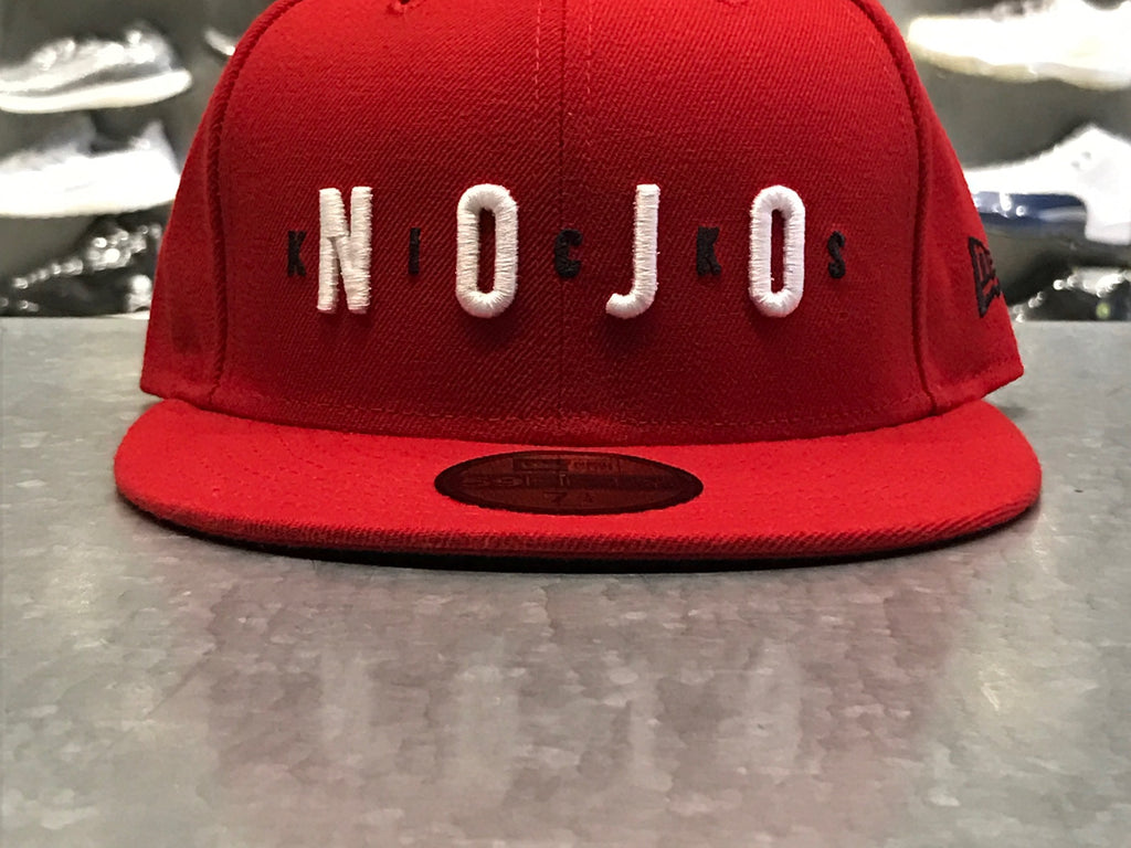 "Air Nojo New Era Fitted Hat ""Red"""