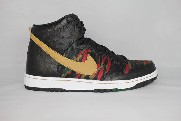NIKE DUNK HIGH SB CMFT PRM QS BlK/GLD/RED/GRN