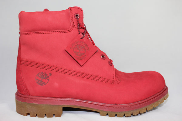 Red Suede Timberland