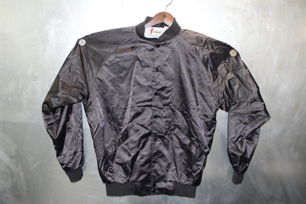 Pablo Black Satin Bomber