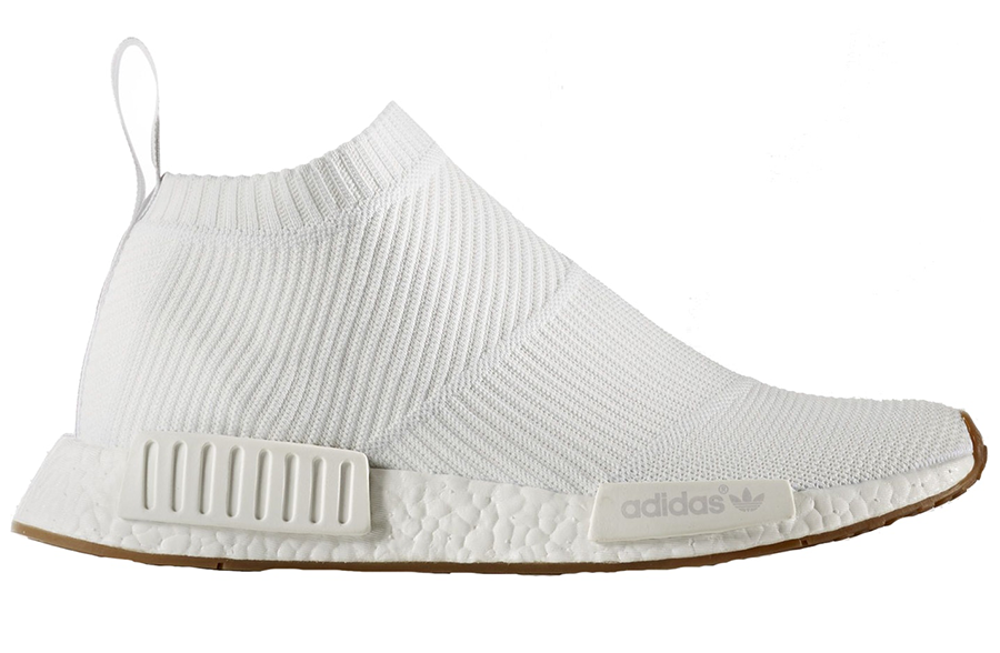 "NMD Adidas City Sock ""White/Gum"""