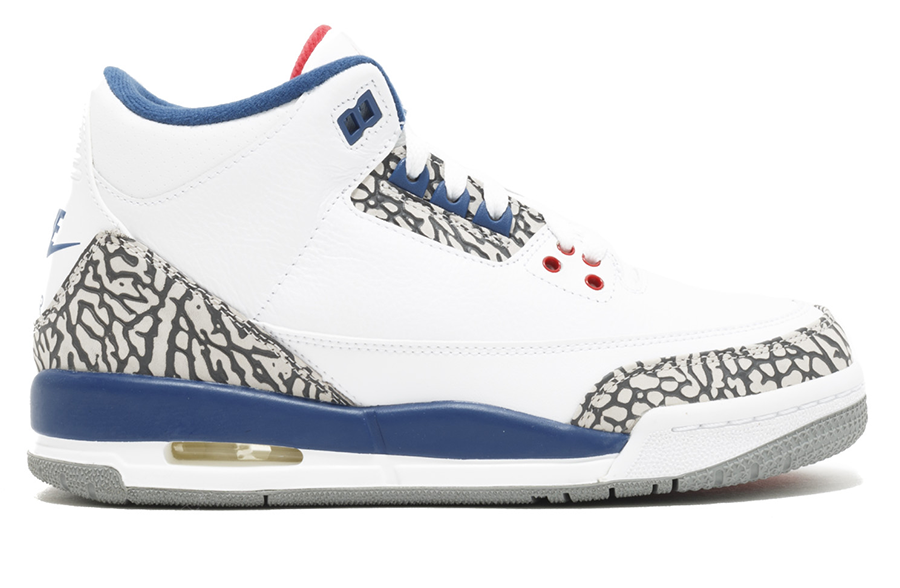 "Air Jordan 3 Retro OG GS ""True Blue"" 2016"