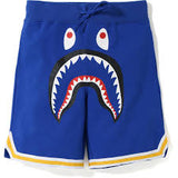 A bathing ape shark Basketball Shorts - blue