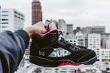 Air Jordan 5 Retro Supreme Black - NOJO KICKS
