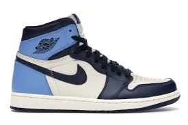 Air jordan 1 retro obsidian unc