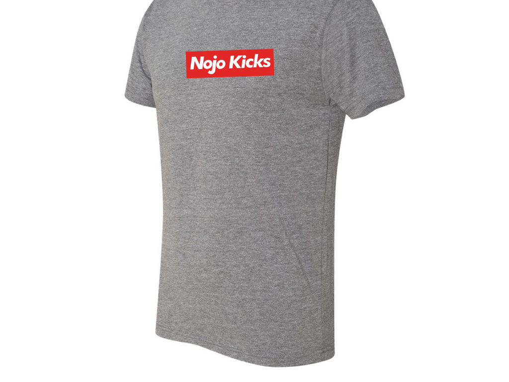 "Nojo Kicks Boxed Logo T-Shirt ""Heather Grey"""