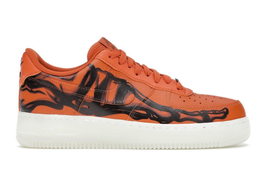 Nike af1 skeleton orange