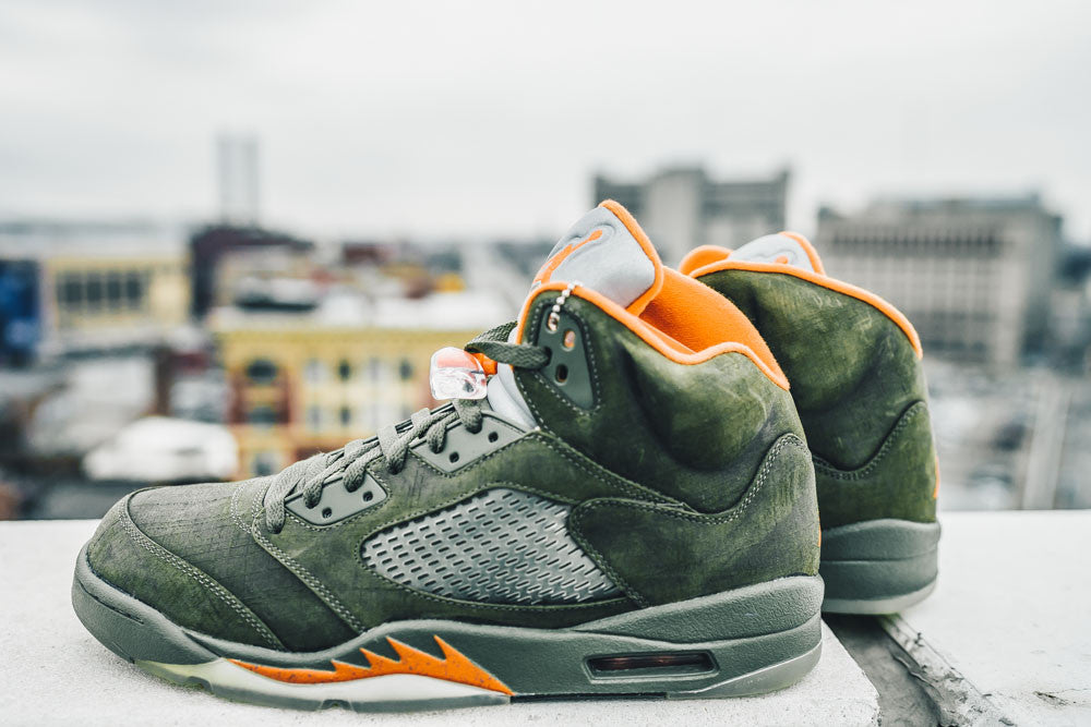4e67b7b76d88 Air Jordan 5 Retro Olive – NOJO Kicks Detroit