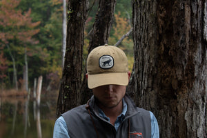 Wildrose Tan Canvas Cloth Patch Hats