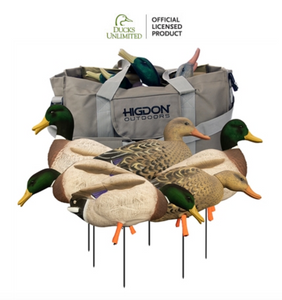 Magnum Full-Body Mallard, Variety Pk, Flocked Heads + Bag