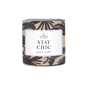 STAY CHIC Jasmine Vanilla Large Scented Candle