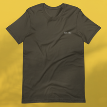 Load image into Gallery viewer, LET'S VIBE army tee womens