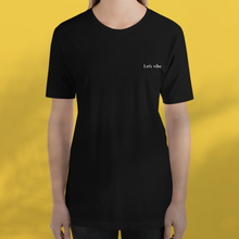 Load image into Gallery viewer, LET'S VIBE black tee women's