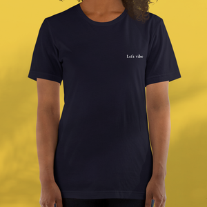 LET'S VIBE navy tee women's