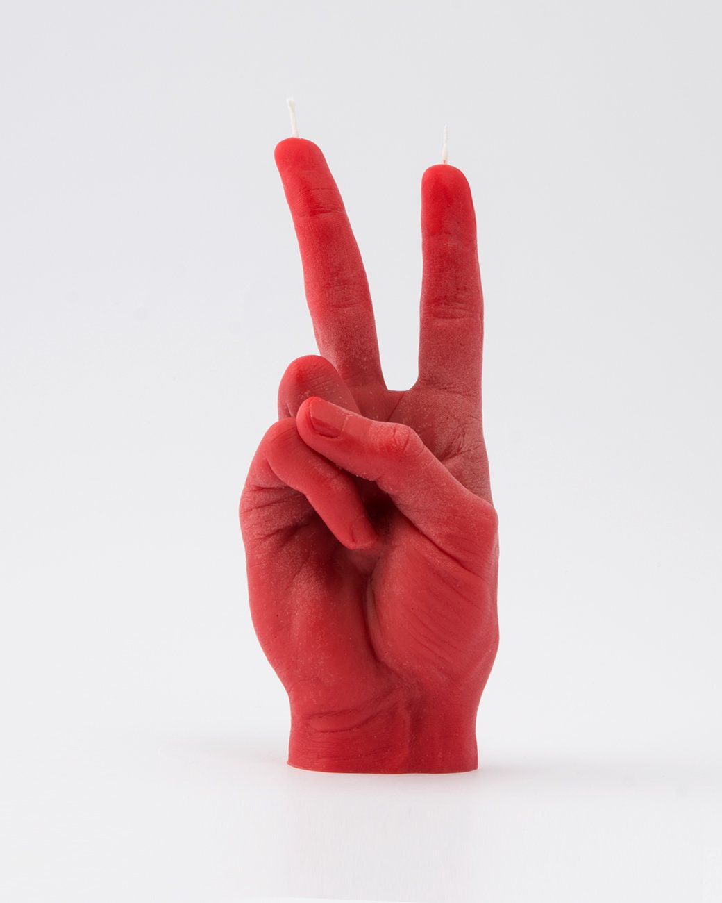 VICTORY hand gesture Red Candle Hand