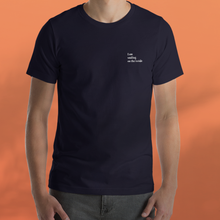 Load image into Gallery viewer, I AM SMILING navy tee men's