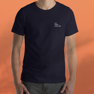 I AM SMILING navy tee men's