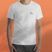 Load image into Gallery viewer, I AM SMILING white tee men's