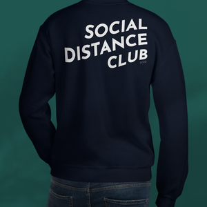 SOCIAL DISTANCE CLUB Navy sweater unisex