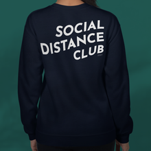 Load image into Gallery viewer, SOCIAL DISTANCE CLUB Navy sweater unisex