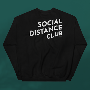 SOCIAL DISTANCE CLUB Black sweater unisex