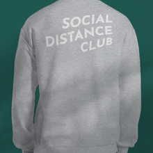 Load image into Gallery viewer, SOCIAL DISTANCE CLUB Grey sweater unisex