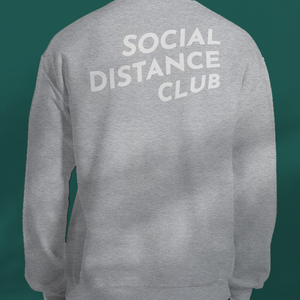 SOCIAL DISTANCE CLUB Grey sweater unisex