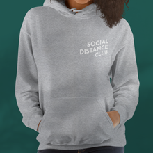 Load image into Gallery viewer, SOCIAL DISTANCE CLUB Grey hoodie unisex