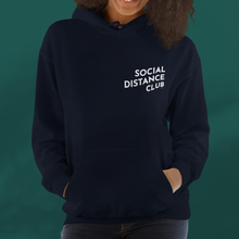Load image into Gallery viewer, SOCIAL DISTANCE CLUB Navy hoodie unisex
