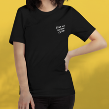 Load image into Gallery viewer, STAY AT HOME CLUB Black tee unisex