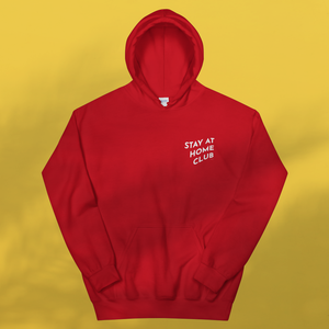 STAY AT HOME CLUB Red hoodie Unisex