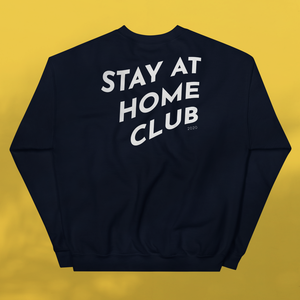 STAY AT HOME CLUB Navy Sweatshirt Unisex