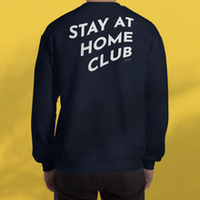 Load image into Gallery viewer, STAY AT HOME CLUB Navy Sweatshirt Unisex