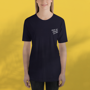 STAY AT HOME CLUB Navy  tee unisex