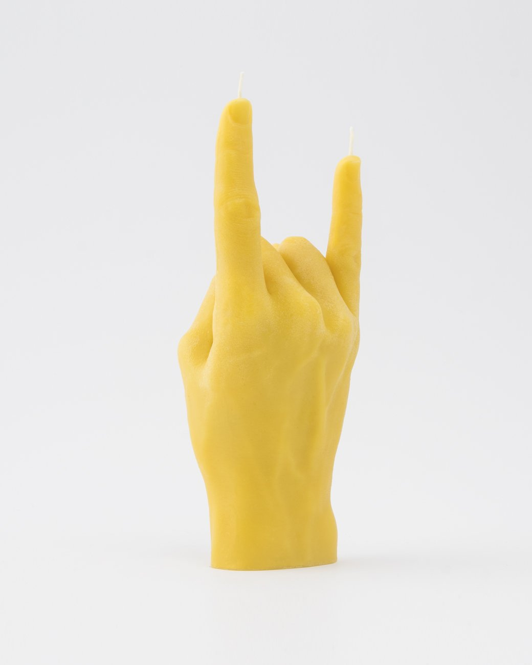 You Rock. Hand gesture candle YELLOW