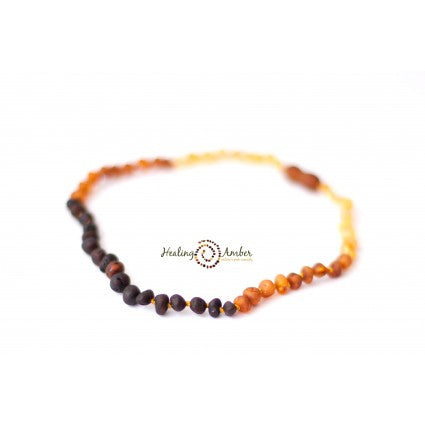 Baltic Amber Teething Anklet Rainbow