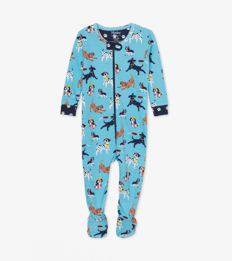 Hatley Playful Pups Footed Coverall