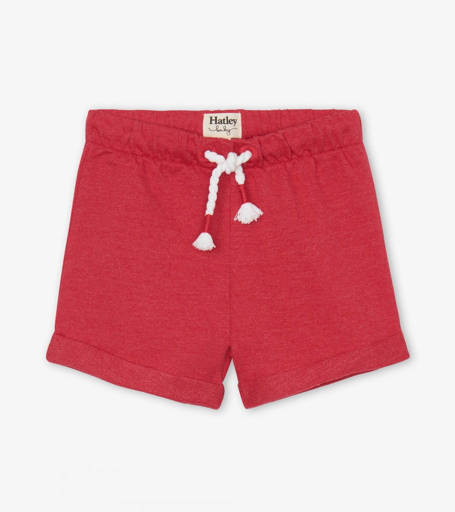 Hatley Red French Terry Shorts