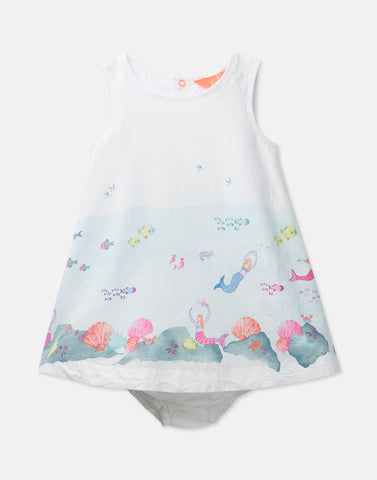 Joules- Cream Mermaid Dress and Knicker Set