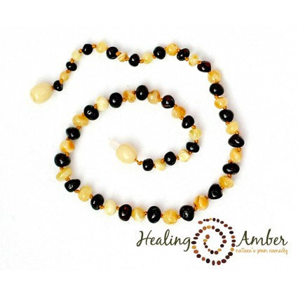 Baltic Amber Teething Necklaces Molasses and Cream